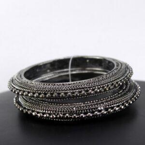 Black Metal Jewellery - Traditional Art Metal Bangles - Oxidised Bangles