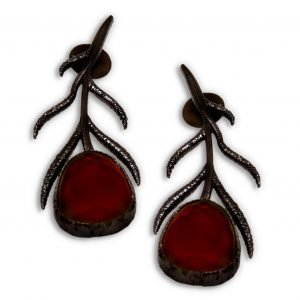 Indo Western Earring With Black Plating