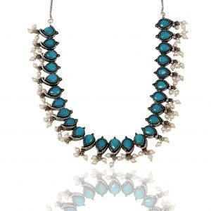 Blue Oxidized Necklace